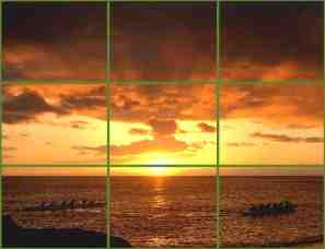 rule of thirds sunset