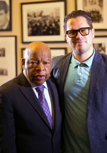 Brian Jenkins with Sen. John Lewis