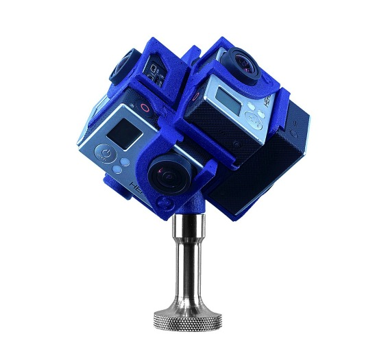 360Heros H3PRO6 360 Video Holder for GoPro Cameras