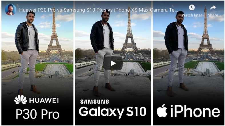 Three Smartphones Compared