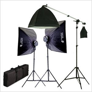 Cowboy Studio Softbox Lighting Kit/Boom Set
