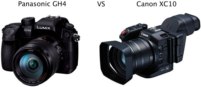 Panasonic GH4 vs Canon XC10