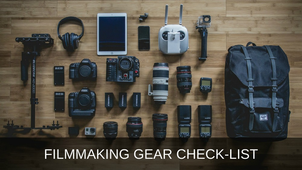 video production equipment and filmmaking gear check