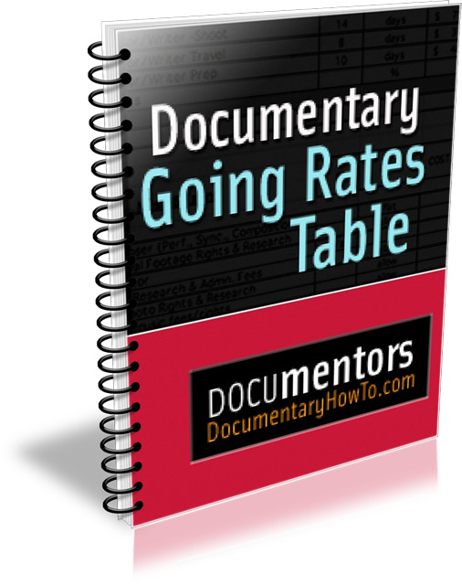 Documentary Going Rates Table