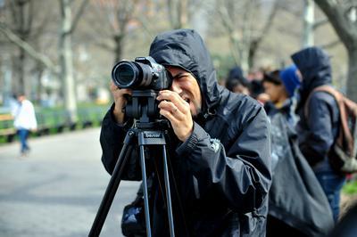 Joseph East shooting solo.