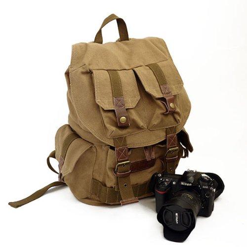 Koolertron Canvas DSLR Camera Shoulder Bag Backpac