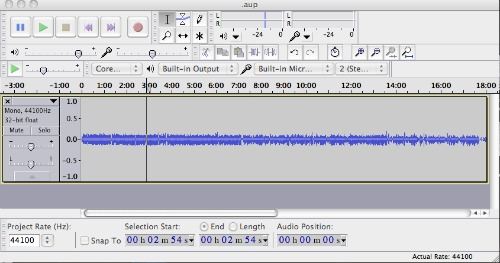 Recover Audio Files with Audacity