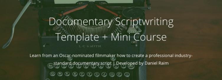 Documentary Scriptwriting Template