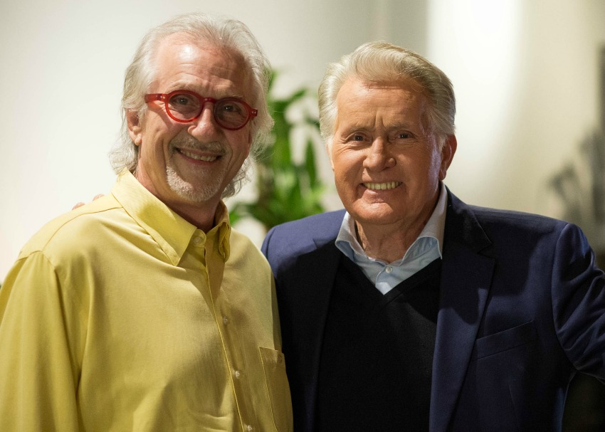 Snuffy Walden and Martin Sheen