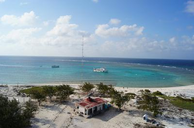 A view from a lighthouse on a remote island in Mexico