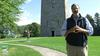 Your host, Greg Cutler, stands in front of the Bennington Battle Monument