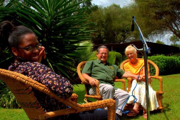 S'ambrosia Wasike filming in Kenya