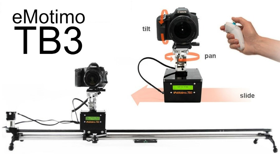 eMotimo TB3 3-Axis Motion Control Camera Robot with Time Lapse