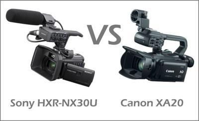 Sony HXR-NX30U vs Canon XA20
