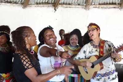 Singing in the village
